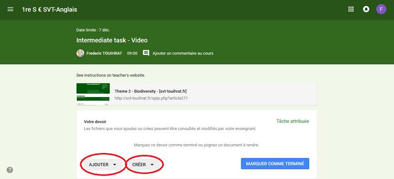 Utiliser Google Classroom Svt Touihrat Fr